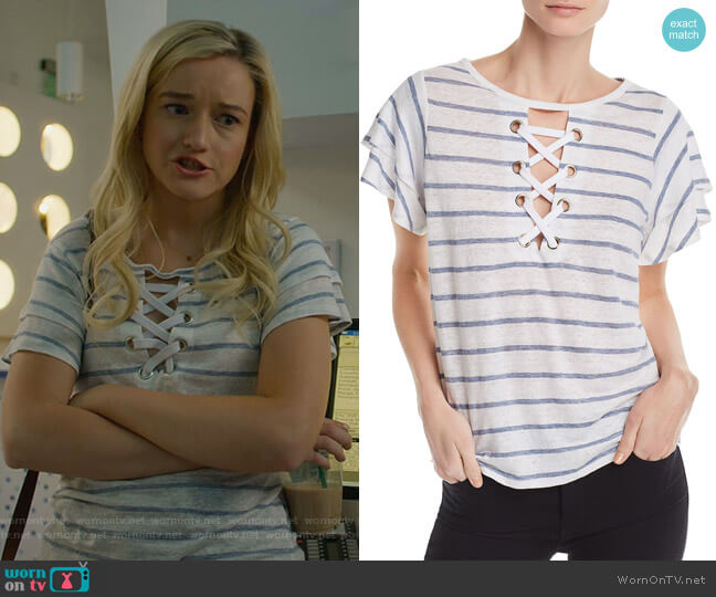 Kiki Tee by Generation Love worn by Terra Newell (Julia Garner) on Dirty John