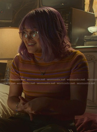 Gert's orange striped turtleneck top on Marvel's Runaways