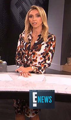 Giuliana's abstract camouflage shirtdress on E! News
