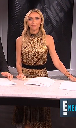Giuliana's leopard pleated dress on E! News