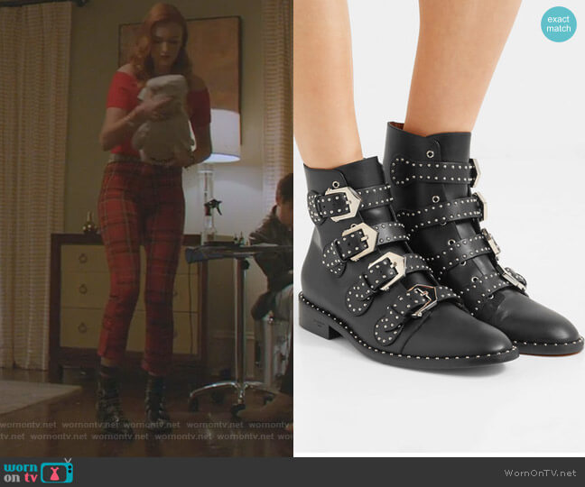 Elegant Studded Ankle Boots by Givenchy worn by Kirby Anders (Maddison Brown) on Dynasty