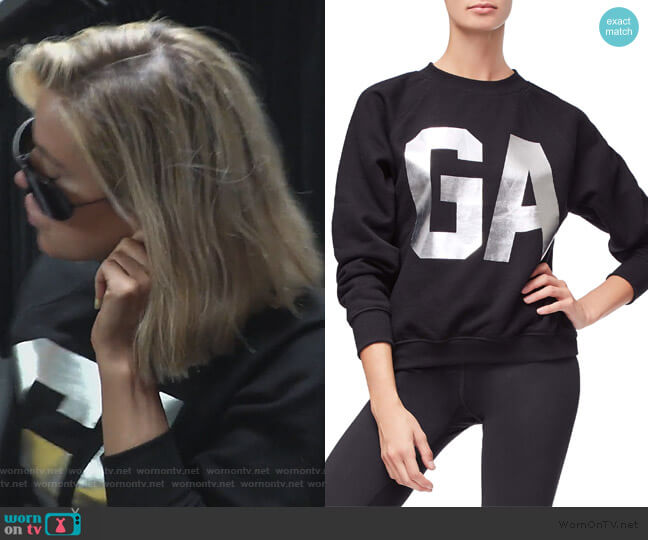 Goodies Varsity Sweatshirt by Good American worn by Khloe Kardashian  on Keeping Up with the Kardashians