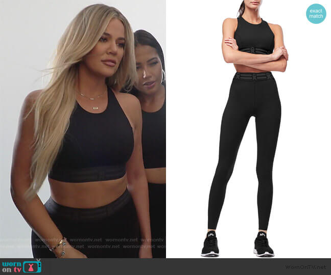Icon Sports Bra and Cropped Leggings by Good American worn by Kourtney Kardashian  on Keeping Up with the Kardashians