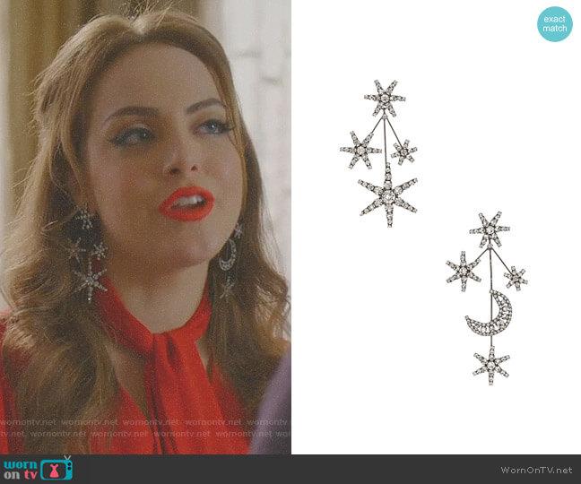 Andromeda Earring by Jennifer Behr worn by Elizabeth Gillies on Dynasty