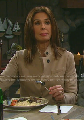 Hope's beige jacket on Days of our Lives