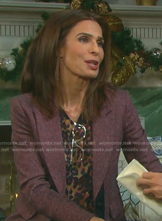 Hope's herringbone blazer on Days of our Lives