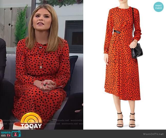 Lawton Dress by Hunter Bell worn by Jenna Bush Hager (Jenna Bush Hager) on Today