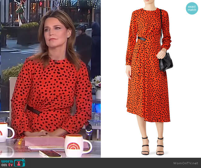 Lawton Dress by Hunter Bell worn by Savannah Guthrie (Savannah Guthrie) on Today