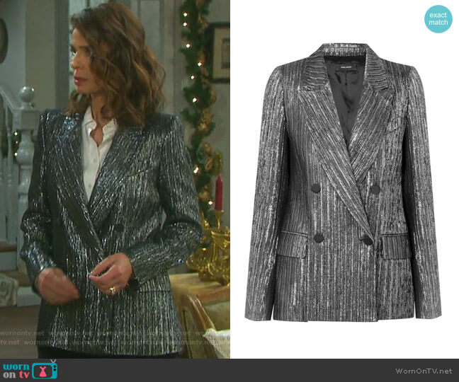 Denel Jacket by Isabel Marant worn by Hope Williams (Kristian Alfonso) on Days of our Lives