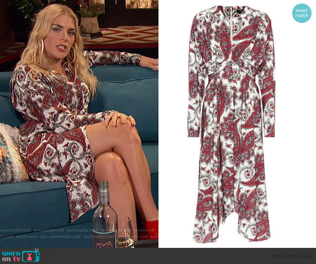 Tamara paisley-printed dress by Isabel Marant worn by Busy Philipps (Busy Philipps) on Busy Tonight