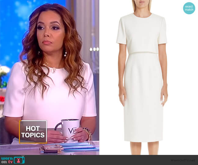 Popover Compact Crepe Sheath Dress by Jason Wu worn by Sunny Hostin  on The View