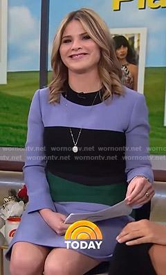 Jenna's purple colorblock dress on Today
