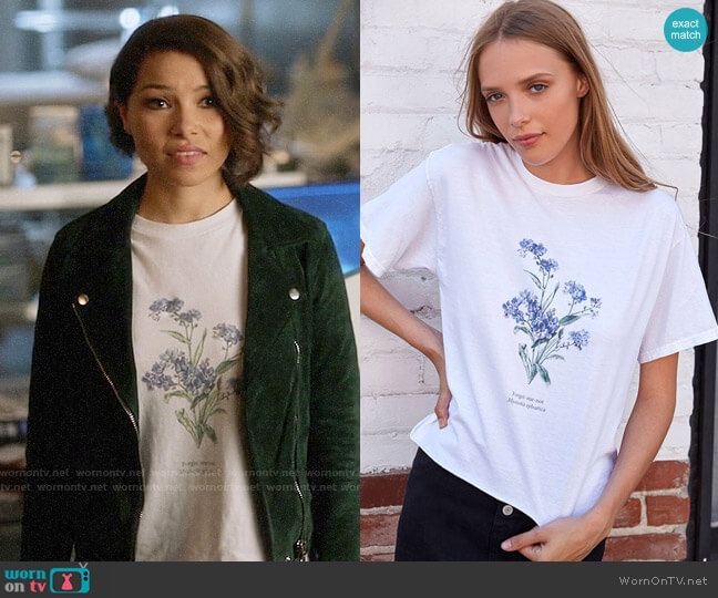 John Galt Forget Me Not T-Shirt worn by Nora West-Allen (Jessica Parker Kennedy) on The Flash
