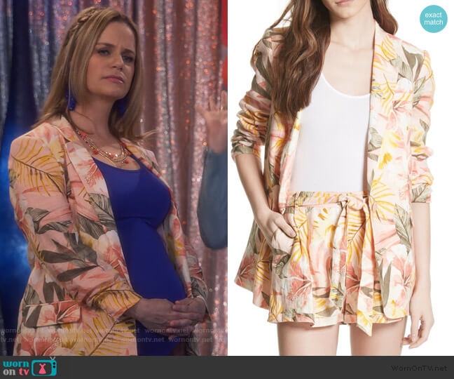 KIshina B Floral Jacket by Joie worn by Kimmy Gibbler (Andrea Barber) on Fuller House