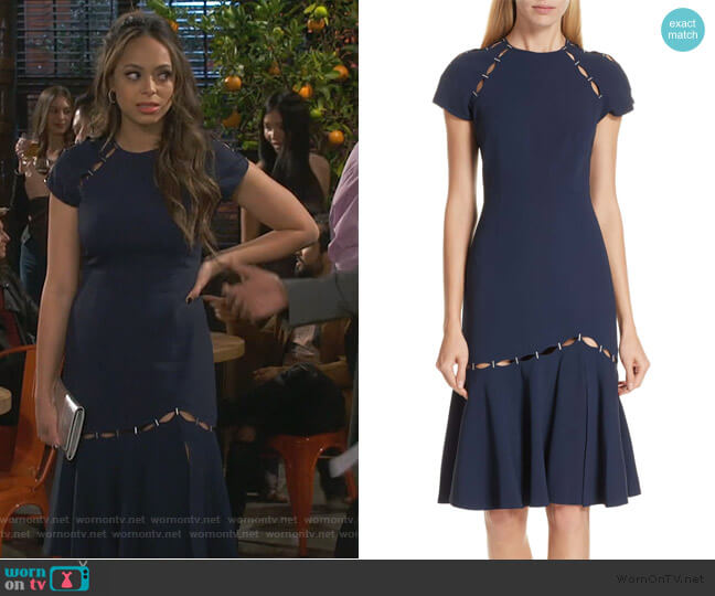 Stapled Crepe T-Shirt Dress by Jonathan Simkhai worn by Claire (Amber Stevens West) on Happy Together