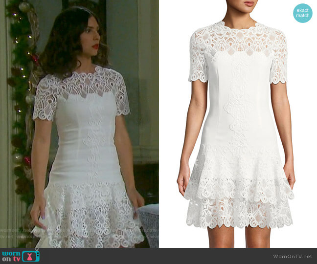 Wornontv gabi s white lace tiered dress on days of our lives