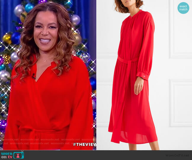Nolan Wrap dress by Joseph worn by Sunny Hostin  on The View