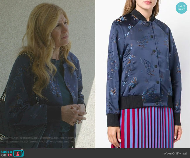 Floral Embroidered Bomber Jacket by Kenzo worn by Debra Newell (Connie Britton) on Dirty John