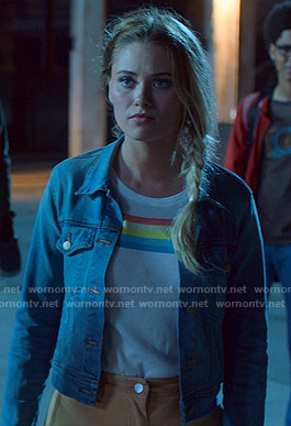 Karolina's rainbow print tee on Marvel's Runaways