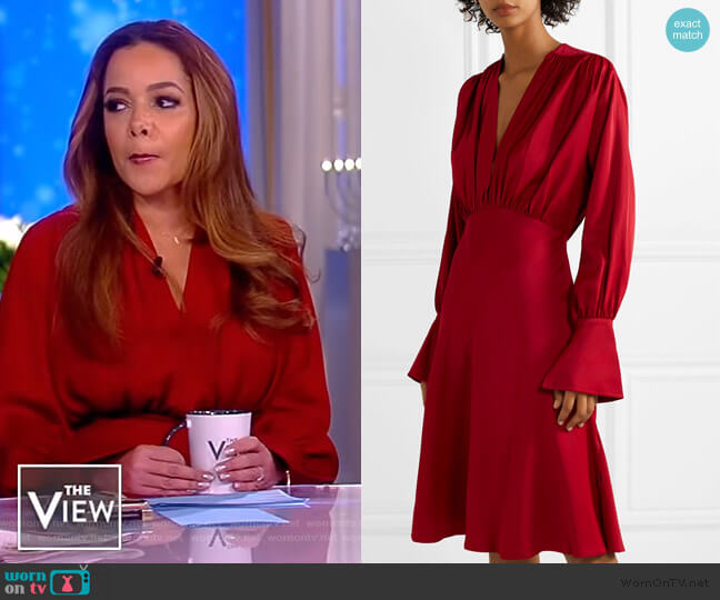 Connie gathered crepe dress by Khaite worn by Sunny Hostin  on The View