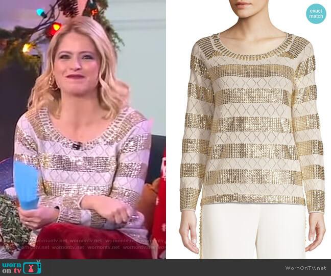 Melita Sweater by Kobi Halperin worn by Sara Haines  on Good Morning America