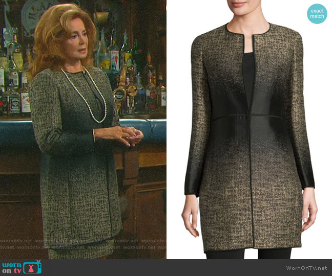 Erin Jacquard Jacket by Lafayette 148 New York worn by Maggie Horton (Suzanne Rogers) on Days of our Lives