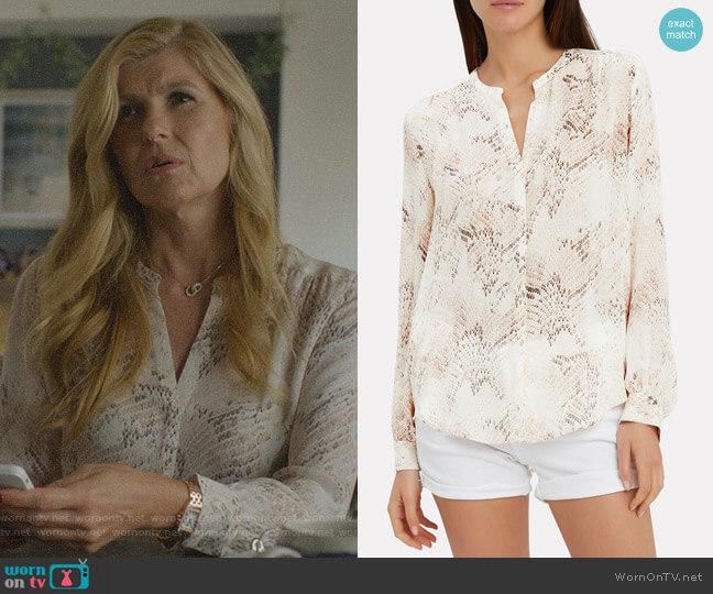 Bardot Top by L'Agence worn by Debra Newell (Connie Britton) on Dirty John