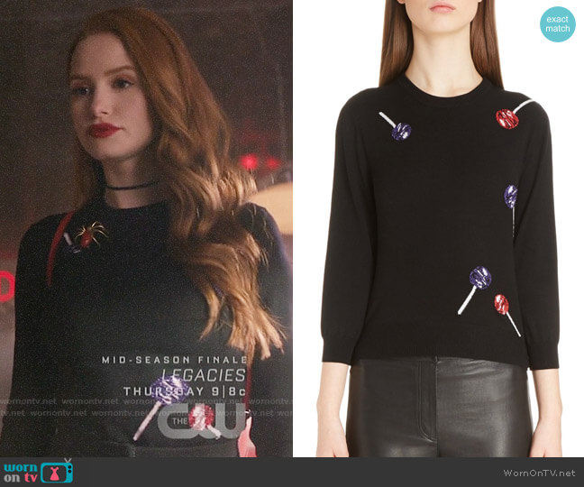 Loewe Lollipop Wool Blend Sweater worn by Cheryl Blossom (Madelaine Petsch) on Riverdale
