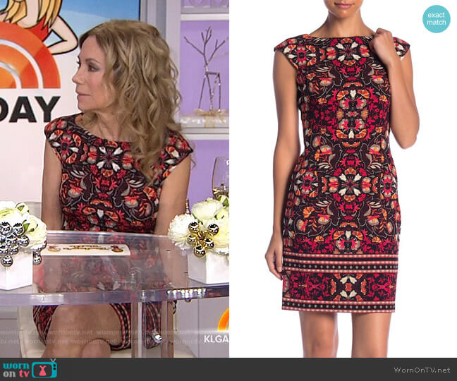 Cap Sleeve Sheath Dress by London Times worn by Kathie Lee Gifford  on Today