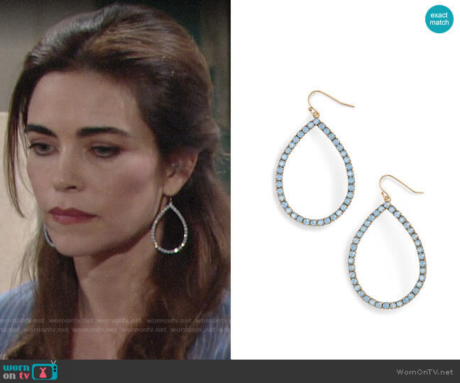 Loren Hope Emilia Earrings worn by Victoria Newman (Amelia Heinle) on The Young & the Restless