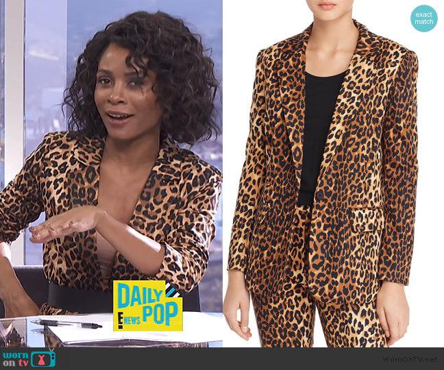 Nahla Leopard Print Blazer by Lucy Paris worn by Zuri Hall  on E! News