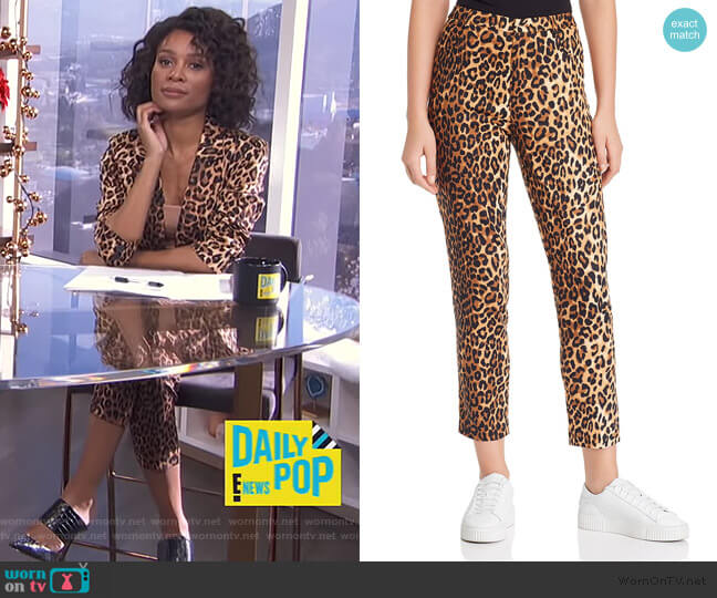 Nahla Leopard Print Pants by Lucy Paris worn by Zuri Hall  on E! News