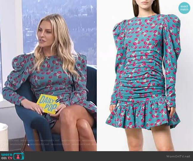 71335d3a7fcb Short Floral Dress by Magda Butrym worn by Morgan Stewart on E! News