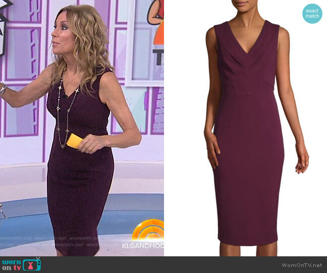 V-Neck Sheath Dress by Maggy London worn by Kathie Lee Gifford  on Today
