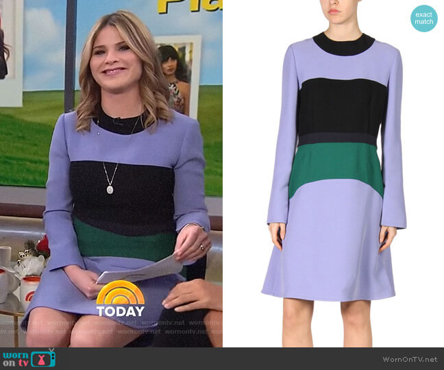 Colorblock Cady Crepe Dress by Marni worn by Jenna Bush Hager  on Today