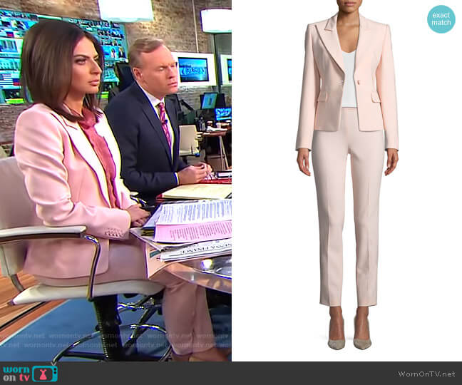 Peak-Lapels One-Button Pebble Crepe Blazer and pants by Michael Kors worn by Bianna Golodryga (Bianna Golodryga) on CBS This Morning