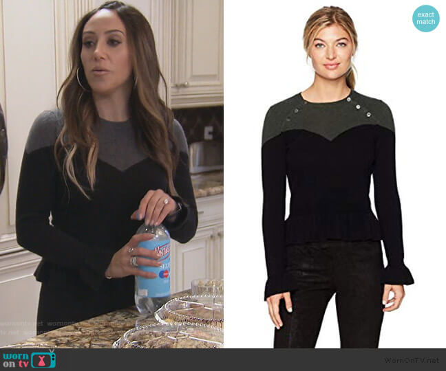 Corset Sweater by Minnie Rose worn by Melissa Gorga (Melissa Gorga) on The Real Housewives of New Jersey