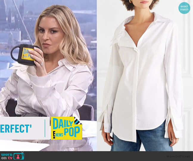 Solid Double Collar Shirt by Monse worn by Morgan Stewart  on E! News