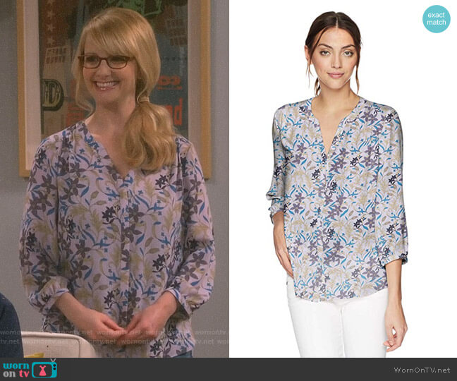 Pintuck Blouse by NYDJ worn by Melissa Rauch on The Big Bang Theory