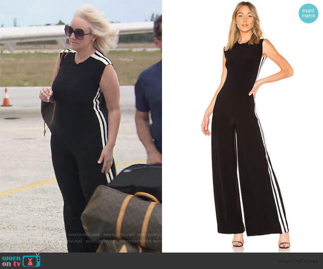 Side Stripe Jumpsuit by Norma Kamali worn by Margaret Josephs (Margaret Josephs) on The Real Housewives of New Jersey