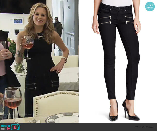 Edgemont Ultra Skinny Jeans by Paige worn by Jackie Goldschneider  on The Real Housewives of New Jersey
