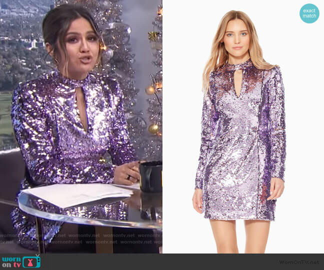 Billy Sequined Dress by Parker worn by Erin Lim (Erin Lim) on E! News