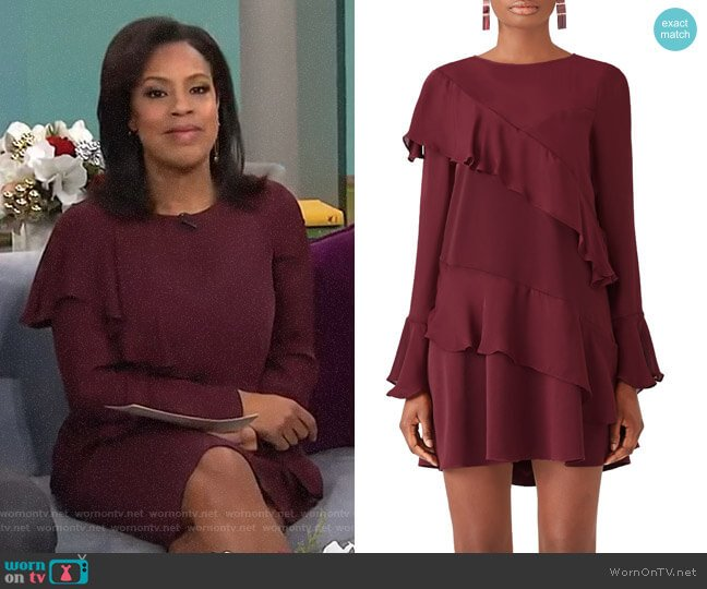 Evony Combo Dress by Parker worn by Sheinelle Jones  on Today