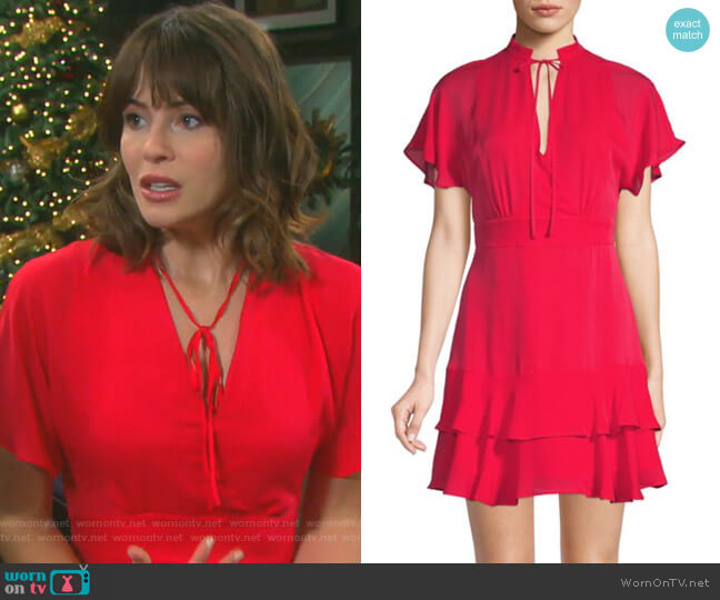Natalie Dress by Parker worn by Sarah Horton (Linsey Godfrey) on Days of our Lives