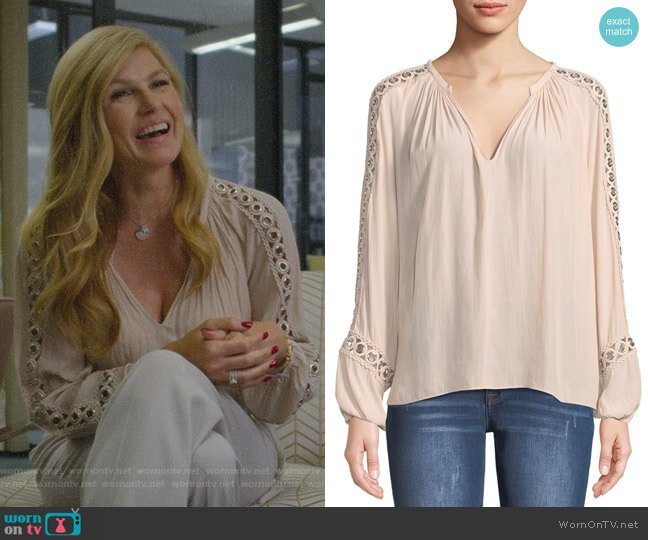 Sera Blouse by Ramy Brook worn by Debra Newell (Connie Britton) on Dirty John