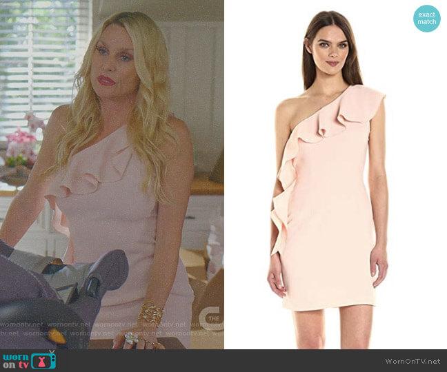 Zoey Dress by Rachel Zoe worn by Alexis Carrington (Nicollette Sheridan) on Dynasty