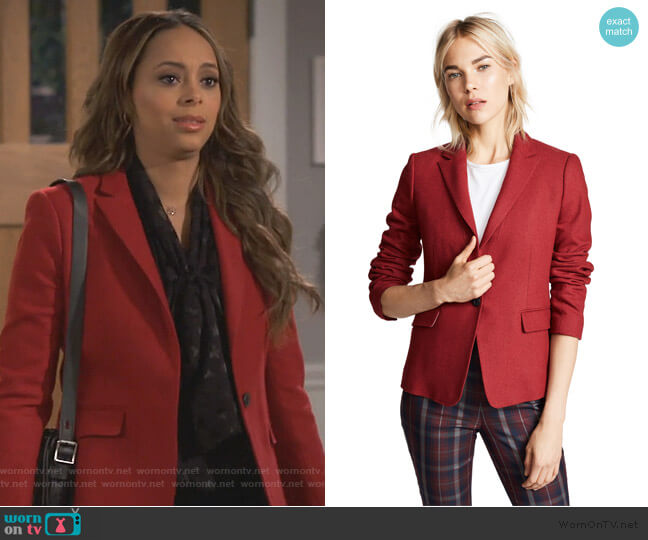 Lexington Blazer by Rag and Bone worn by Claire (Amber Stevens West) on Happy Together