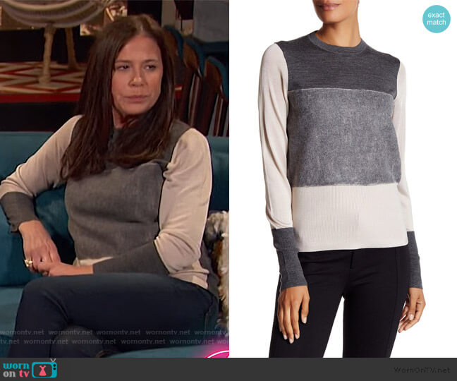 Marissa Merino Wool Sweater by Rag & Bone worn by Maura Tierney on Busy Tonight