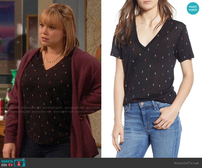 Rails Cara Tee in Black Rainbow Cactus worn by Kristin Baxter (Amanda Fuller) on Last Man Standing