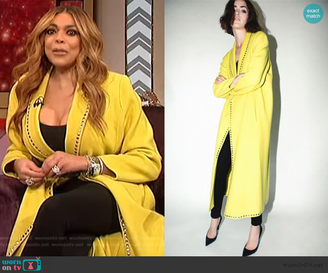 Coat with Studs by Robert Rodriguez worn by Wendy Williams  on The Wendy Williams Show